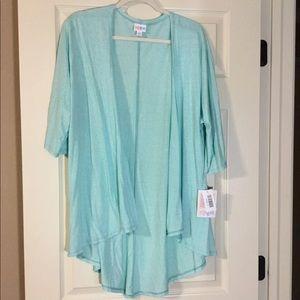 NWT Lularoe Lindsay; Mint Green Kimono